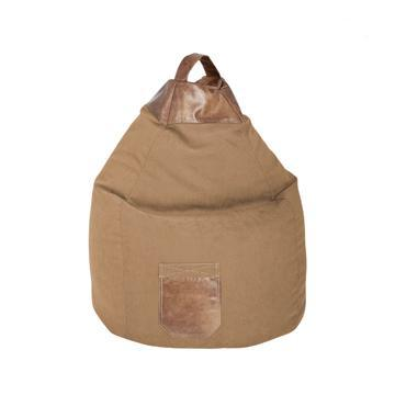 Brown Beige Sitting Point Jamie Bean Bag Chair - nuatua-bean-bags