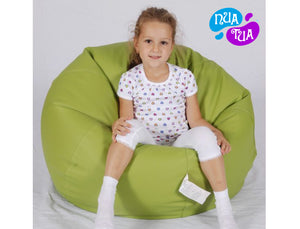 Cosy Medium Leatherette Lime Green - nuatua-bean-bags