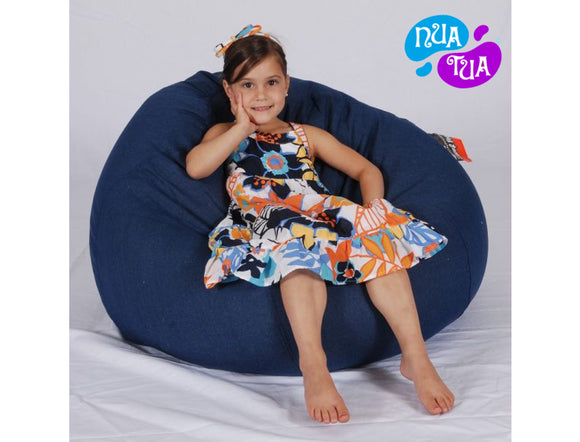 Cosy Medium Leatherette Navy Blue - nuatua-bean-bags