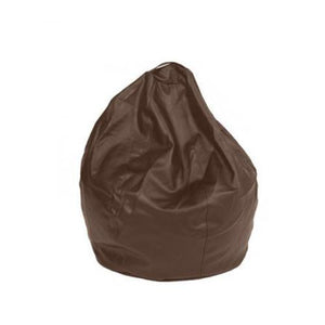 Dark Brown Leatherette Queen Bean Bag