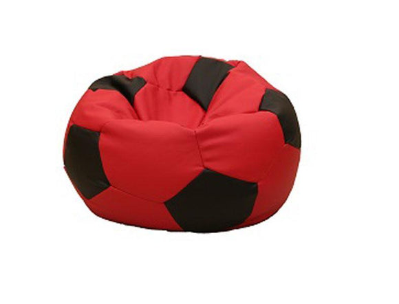 Leatherette Soccer Ball Red - nuatua-bean-bags