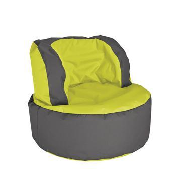 Lime Green Grey Sitting Point Bebop Bean Bag Chair - nuatua-bean-bags