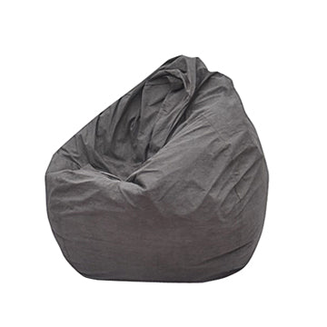 Grey Big Pear Bean Bag Chair - nuatua-bean-bags