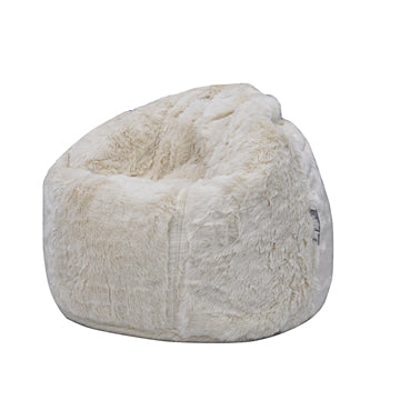 Cream Posh Bean Bag Chair