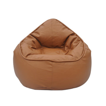 Brown Tan Pod Bean Bag Chair - nuatua-bean-bags