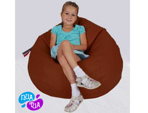 Cosy Medium Leatherette Dark Brown - nuatua-bean-bags