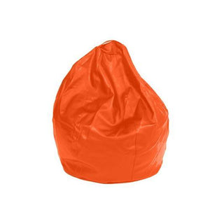Orange Leatherette Queen Bean Bag - nuatua-bean-bags