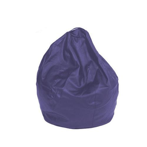 Purple Leatherette Queen Bean Bag - nuatua-bean-bags