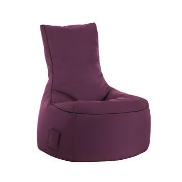 Purple Sitting Point Swing Brava Bean Bag Chair