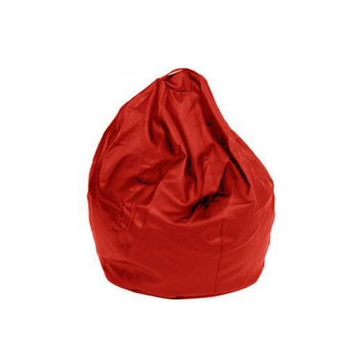 Red Leatherette Queen Bean Bag