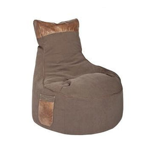 Brown Sitting Point Jamie Bean Bag Chair - nuatua-bean-bags