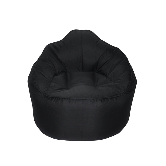 Black Giant Pod Bean Bag Chair - nuatua-bean-bags