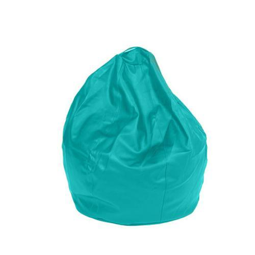 Turquoise Leatherette Queen Bean Bag - nuatua-bean-bags