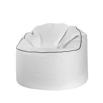 White Sitting Point Tube Cosy Bean Bag Chair - nuatua-bean-bags