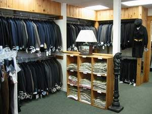 show coat selection in store
