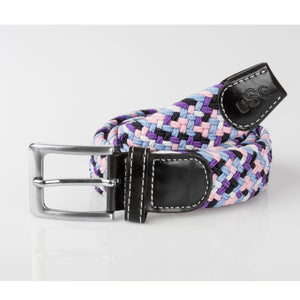 USG Casual Belt Black Rose Lilac Blue
