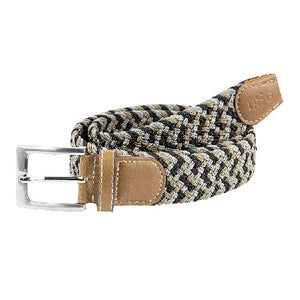USG Casual Belt Black Grey Beige