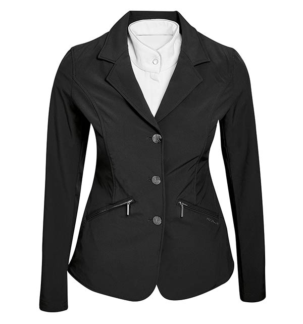Horseware Ireland Ladies Competition Jacket Black Rear View