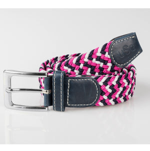 USG Casual Belt Navy Pink White