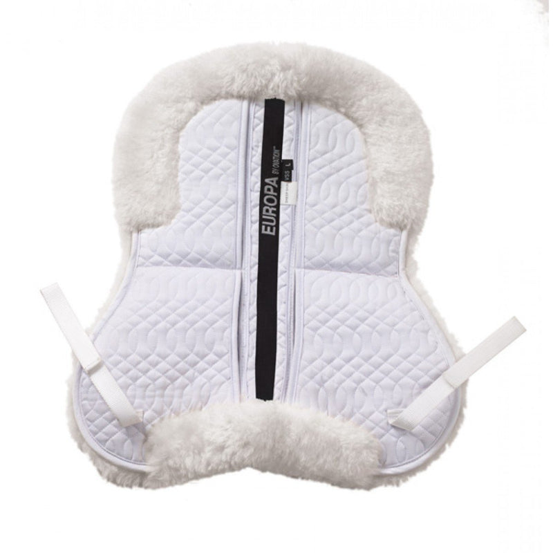 Ovation® Europa™ Sheepskin 4-Shim Solid Spine Half Pad white