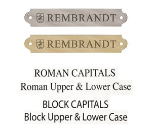 Perri's Leather Engraved Plate Options