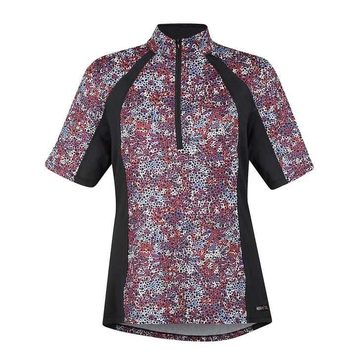 Kerrits Short Sleeve Ice Fil Print Berry Meadow