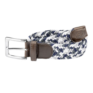 USG Casual Belt White Grey Navy