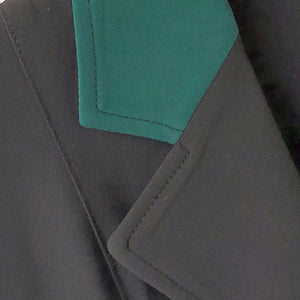 collar detail, hunter green collar r j classics victory coat