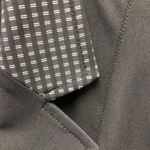 collar detail, black patterened r j classics victory coat