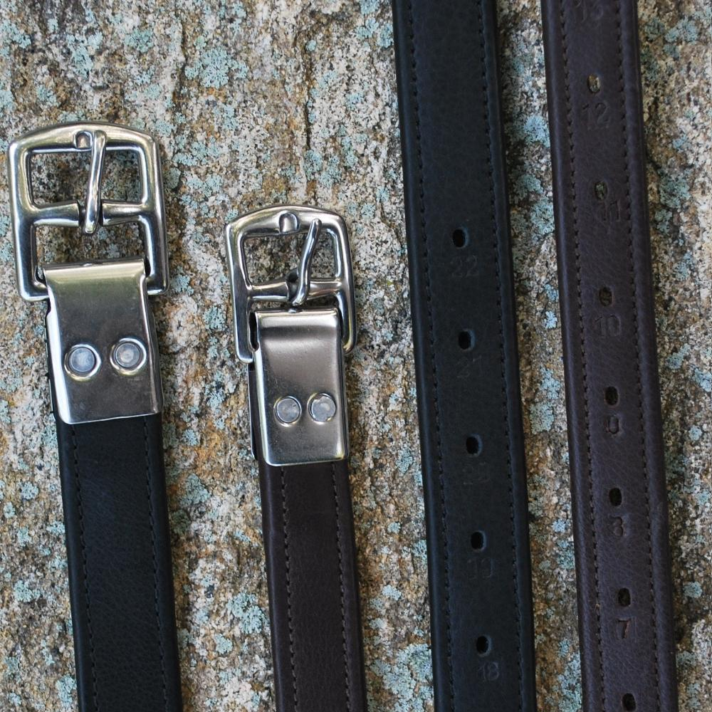 Black Oak Calk Lined Stirrup Leathers