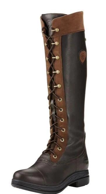 Ariat Coniston Ebony Three Quarter Front Lace Detail