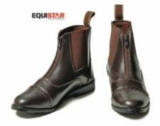 Equistar Ladies Synthetic Paddock Boot Brown Zip