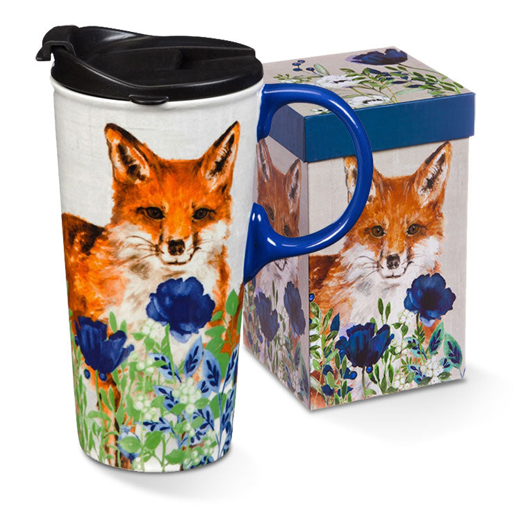 G.T.Reid Ceramic Travel Mug Fox