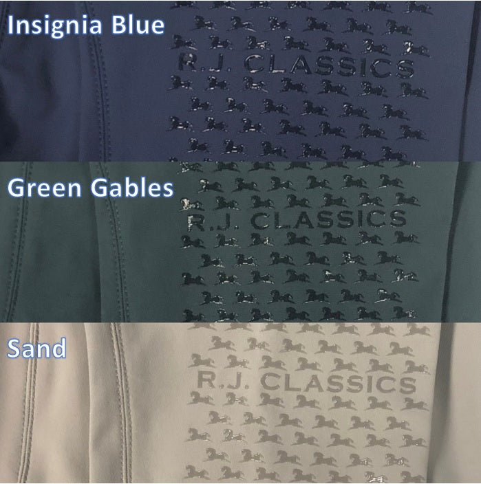 R. J. Classics Harper Silicone Knee Patch Breech Insignia Blue Green Gables Sand