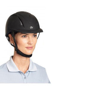 English Riding Supply Ovation® Deluxe Schooler Helmet 467566-BLK black helmet only