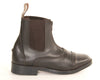 Equistar Children's Synthetic Paddock Boot Brown Zip