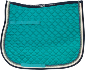 USG Dressage Pad Lake Blue Ecru Navy
