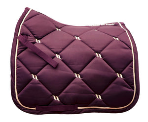 Back On Track Nights Collection Dressage Saddle Pad Ruby
