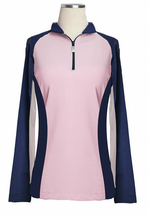 eis paneled sun shirt navy pink
