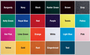 Champion Polo Wraps Color chart