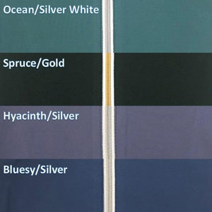 Tailored Sportsman Ice Fil Quarter Zip Short Sleeve Top Ocean Silver White Spruce Gold Hyacinth Silver Bluesy Silver