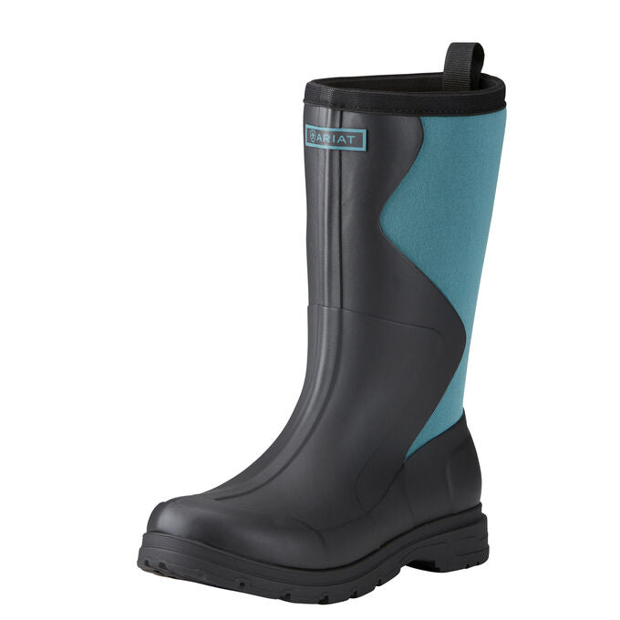 Ariat Springfield Rubber Boot Dusty Teal Black