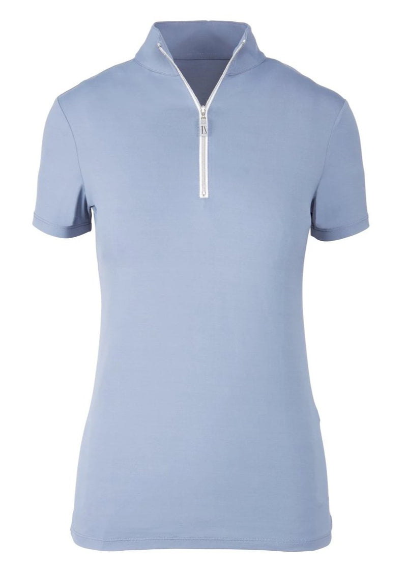 Tailored Sportsman Ice Fil Quarter Zip Short Sleeve Top
