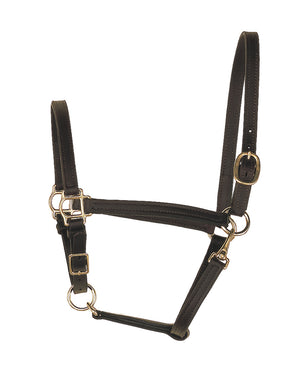 perri's three quarters inch leather turnout halter black