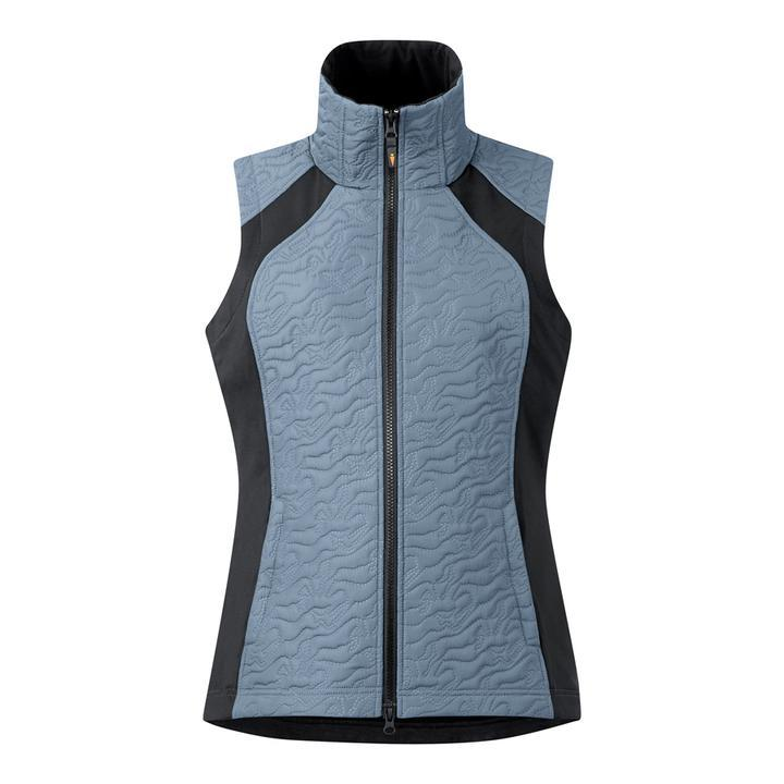 Kerrits Unbridled Horse Quilted Vest in Ash Blue