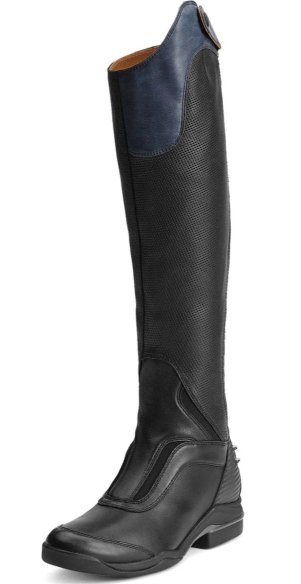 Ariat V Sport Blue Tall Boot Toe Detail