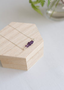 Amethyst Crystals Necklace