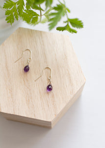 Amethyst Eco Silver Earrings