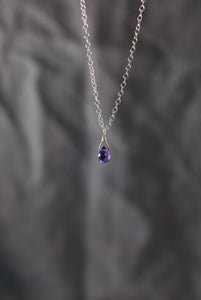 Minimal Amethyst Necklace