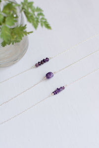 Sterling Silver Amethyst Necklaces